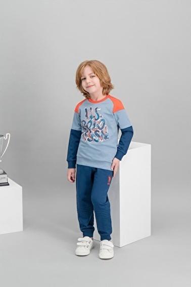 U.S. Polo Assn. Lisanslı Erkek Çocuk Eşofman Takımı Mavi